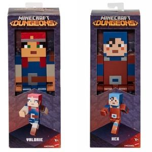 """Minecraft Large Hex and Valorie Figure 8.5"""" NEW"""